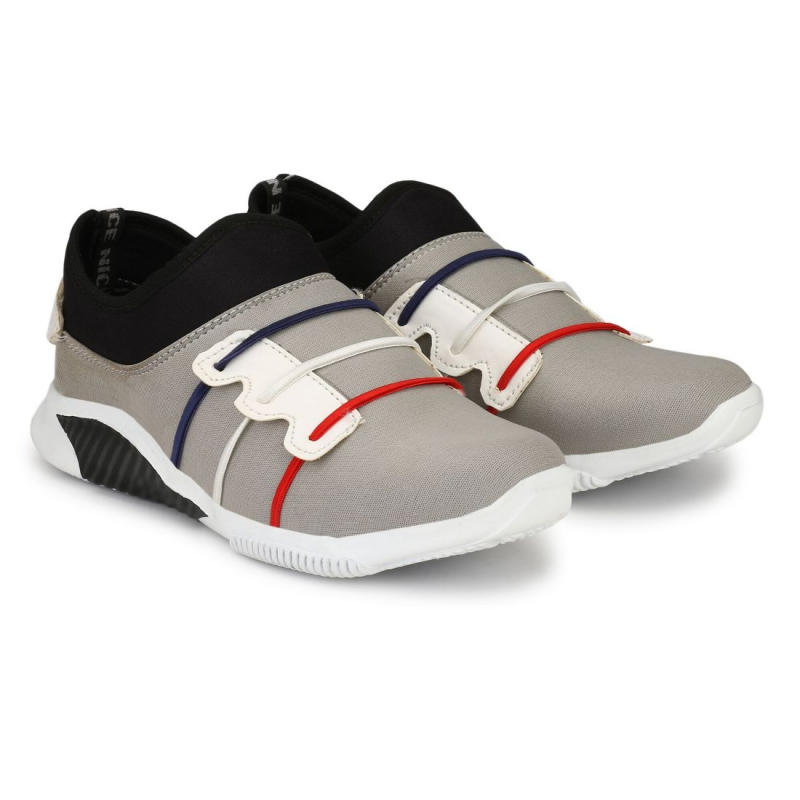 Generic Men's Grey,Black,White,Blue,Red Color Canvas Material  Casual Sneakers