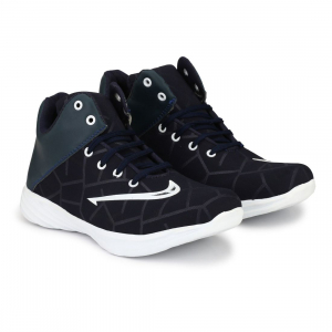 Generic Men Navy Blue,White Color Canvas Material  Casual Sneakers