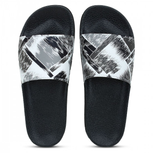 Generic Women Black White Color Synthetic Material  Casual Sliders
