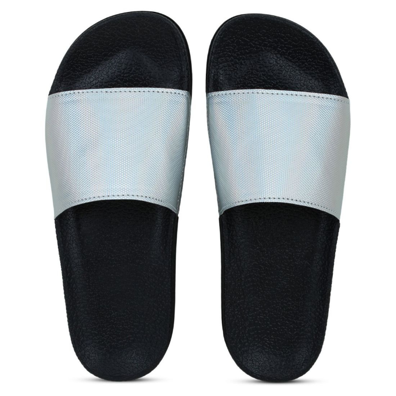 Generic Women Silver Color Synthetic Material  Casual Sliders