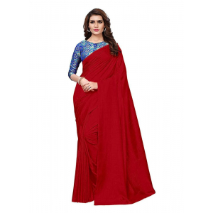 Generic Women's Zoya Silk Saree (Red, 5-6 Mtrs)