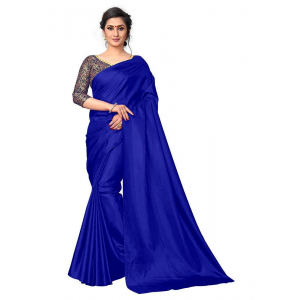 Generic Women's Zoya Silk Saree (Royal Blue, 5-6 Mtrs)