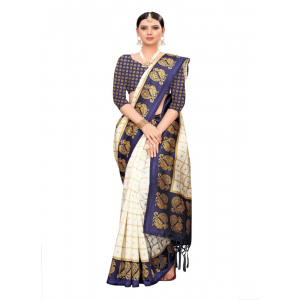 Generic Women's Art Silk Saree (Multi, 5-6 Mtrs)