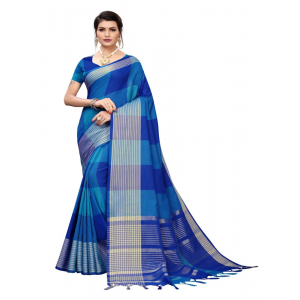 Generic Women's Cotton Saree (Multi, 5-6 Mtrs)