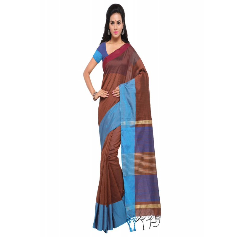 Generic Women's Cotton Silk Saree (Multi, 5-6 Mtrs)