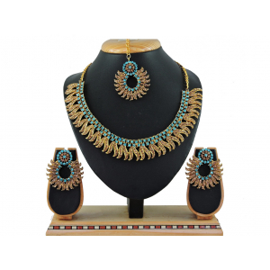 Generic Women's Alloy Necklace set (Turquoise)