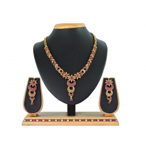Generic Women's Alloy Necklace set (Rani)