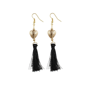 Generic Women's Alloy Hook Dangler Hanging Tassel Fashion Earrings-Multicolour