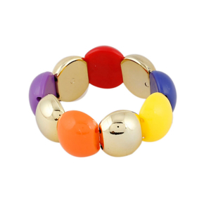 Generic Women's Gold Plated  Charm Bracelet-Multi