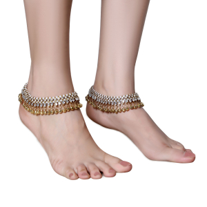 Generic Women's Gold Plated  Anklets-Golden