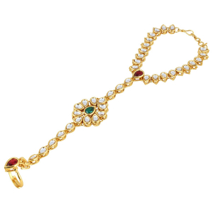 Generic Women's Gold Plated  Hand Thong Bracelet-Gold
