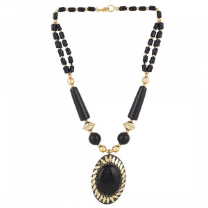 Black Color Designer Tibetan Style Beads Necklace