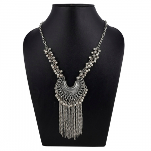 Designer High Quality Oxidized Silver Afgani Necklace