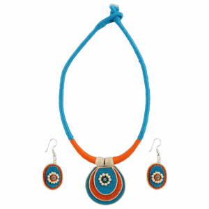 Designer Handcrafted Thread Multi Colour Fashion Necklace