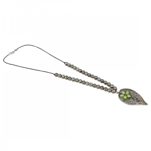 Designer Leaf Tribal Oxidized Silver Necklace Jewellery