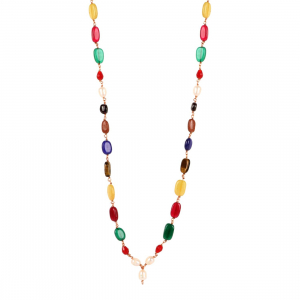 Designer Premium Multi Colour Onyx Stone Necklace