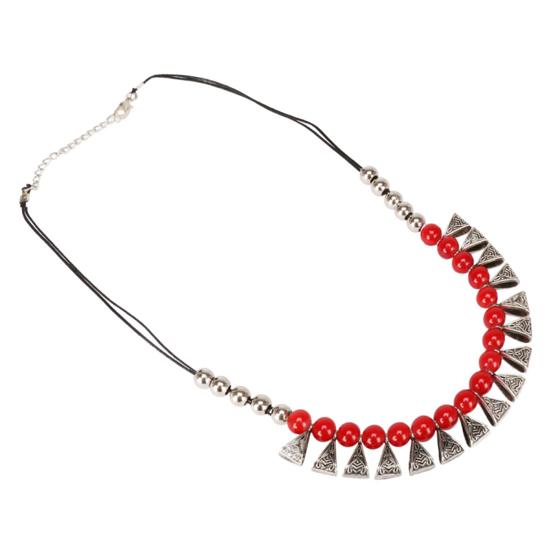 Afghani Designer Turkish Style Vintage Silver Oxidised Necklace