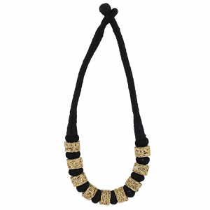 Designer Black Silk Thread Necklace