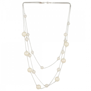 Floating Pearl Multilayer Necklace