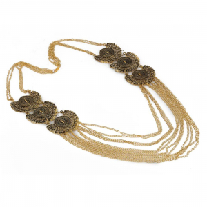 Designer Antique Oxidized Golden Fashion Necklace
