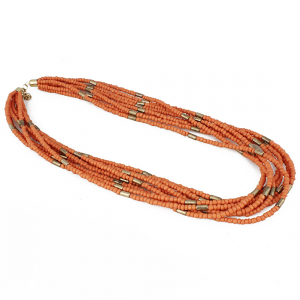 Designer Orange Beads Necklace