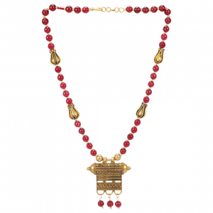 Designer Premium High Grade Stylish Maroon Beads Necklace