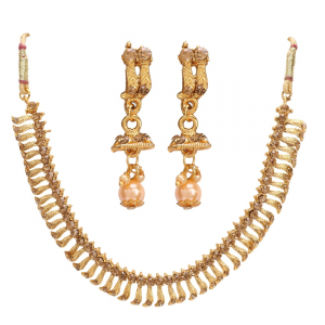 Stylish Gold Plated Necklace Set