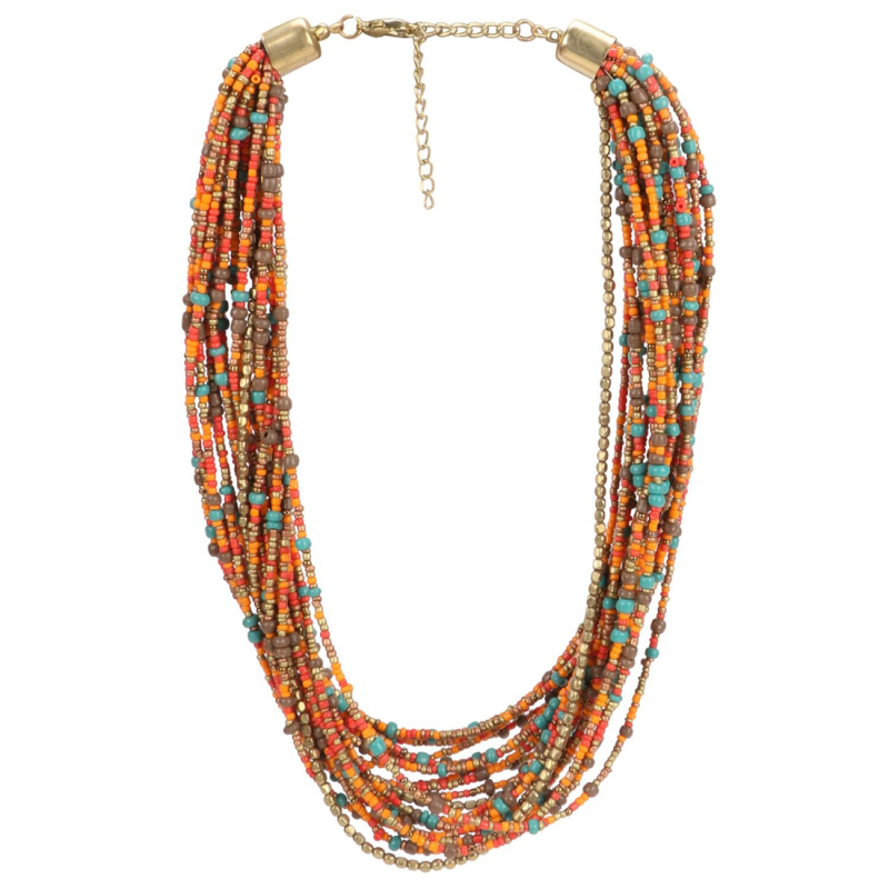 Designer Fashion Crystal and Beads Necklace