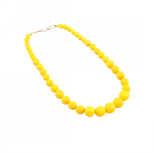 Stylish Yellow Colour Onyx Stone Necklace
