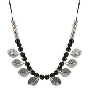 Boho Silver Oxidised Necklace