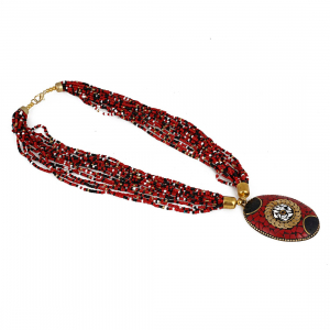 Multicolour Tibetan Style Beads Necklace