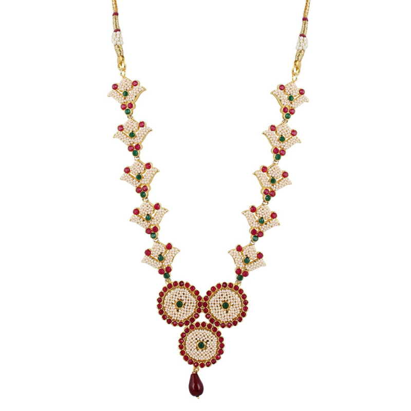 Basra Pearl Gold Plated Necklace