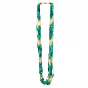 Designer Green Stylish Beads Necklace