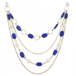 Blue Beads Fashion Necklace