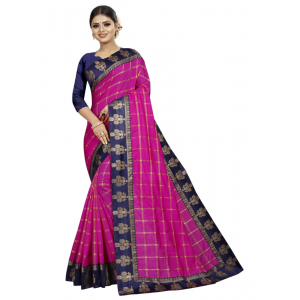 Generic Women's Panetar Silk Saree with Blouse (Pink,5-6 mtrs)