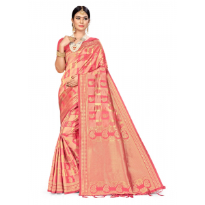Generic Women's Banarasi Silk Saree (Pitch, 5-6mtrs)