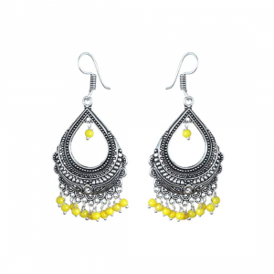 Festival Special Jewellery Earrings Pearl Chandelier Festive Wear Oxidised Earring for Women & Girls