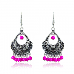 Fashion Jewellery Oxidized Silver Bali Stylish Fancy Traditional Earring for Women & Girls