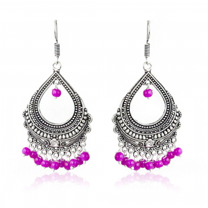 Oxidized Silver-Plated Bali Earring Party Wear Traditional Earring for Women & Girls