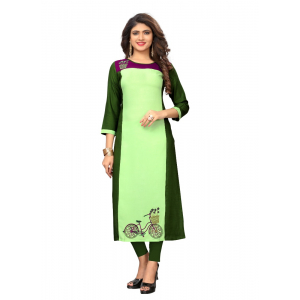 Generic Women's Rayon Embroidered Kurti (Multicolor)