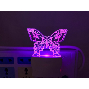 Generic Multicolor Butterfly Night Lamp