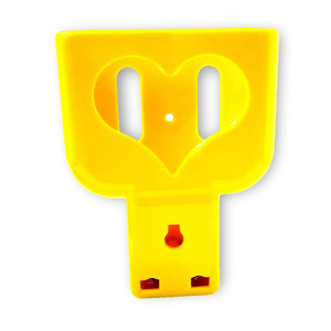 Heart Shaped Charging Holder (Pack of 2 )-Yellow