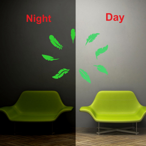 Generic Green Leaf Radium Wall Sticker