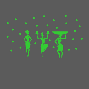 Generic Green Dancing Lady Radium Wall Sticker