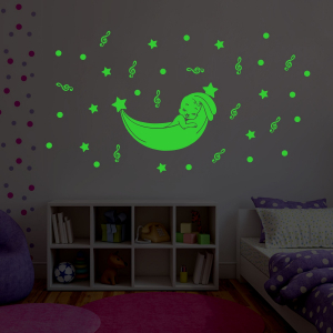 Generic Green Kids Room Decor Radium Wall Sticker