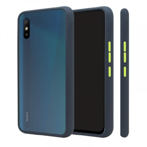Generic Mobile Case Cover For Redmi 9A(Smoke Back Case,Color: Blue,Material:Plastic)