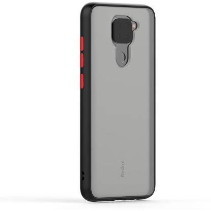 Generic Mobile Case Cover For Redmi Note-9 (Smoke Back Case,Color: Black,Material:Plastic)