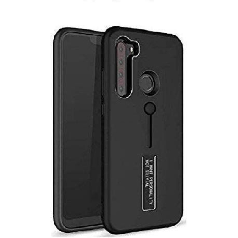 Generic Mobile Case Cover For Realme Narzo 10A (Smoke Back Case,Color: Black,Material:Plastic)