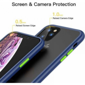 Generic Mobile Case Cover For Apple iPhone 11 Pro Max(Smoke Back Case,Color: Blue,Material:Plastic)