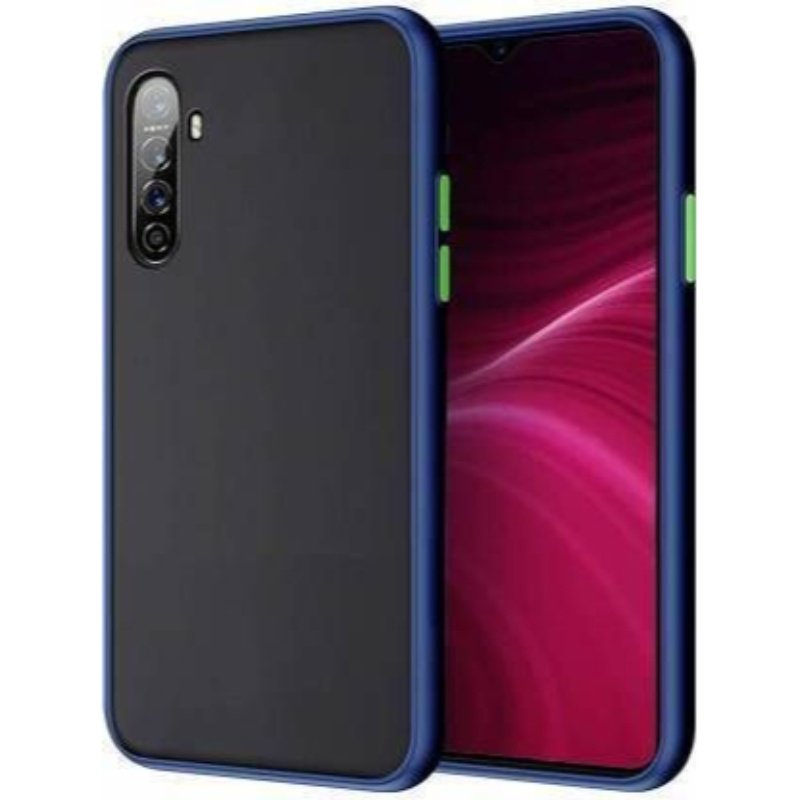 Generic Mobile Case Cover For Realme 6/6i (Smoke Back Case,Color: Blue,Material:Plastic)